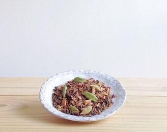 Modern Chai No. 2 - organic spiced loose leaf black tea, chocolate, saffron, ginger, cardamom