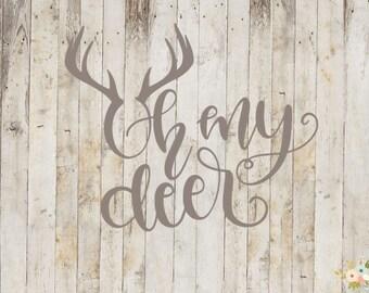 Oh My Deer Decal