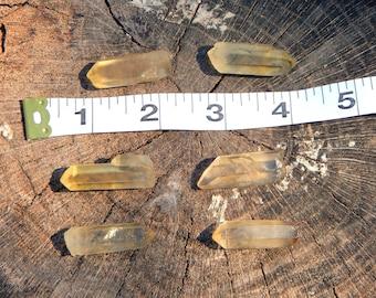 NATURAL CITRINE Terminated Quartz point intuitively chosen - Reiki Wicca Pagan Geology gemstone specimen