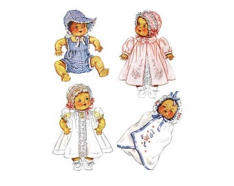 1930s Baby Clothes for Dy-Dee Dolls McCall 632 Vintage Sewing Pattern Fits 15 inch Doll UNCUT