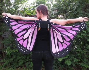 Adult Costume Purple Butterfly Wings