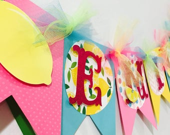 Pink lemonade banner, lemonade theme banner, lemonade banner, lemonade party