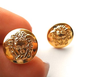GRETA Grecian Medusa Stud Earrings. Will arrive in Gift Box w/Ribbon. Fast shipping from USA with Tracking for US Buyers.