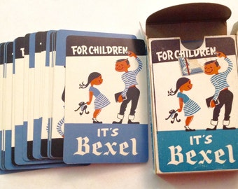 Vintage It's Bexel card deck for children playing cards
