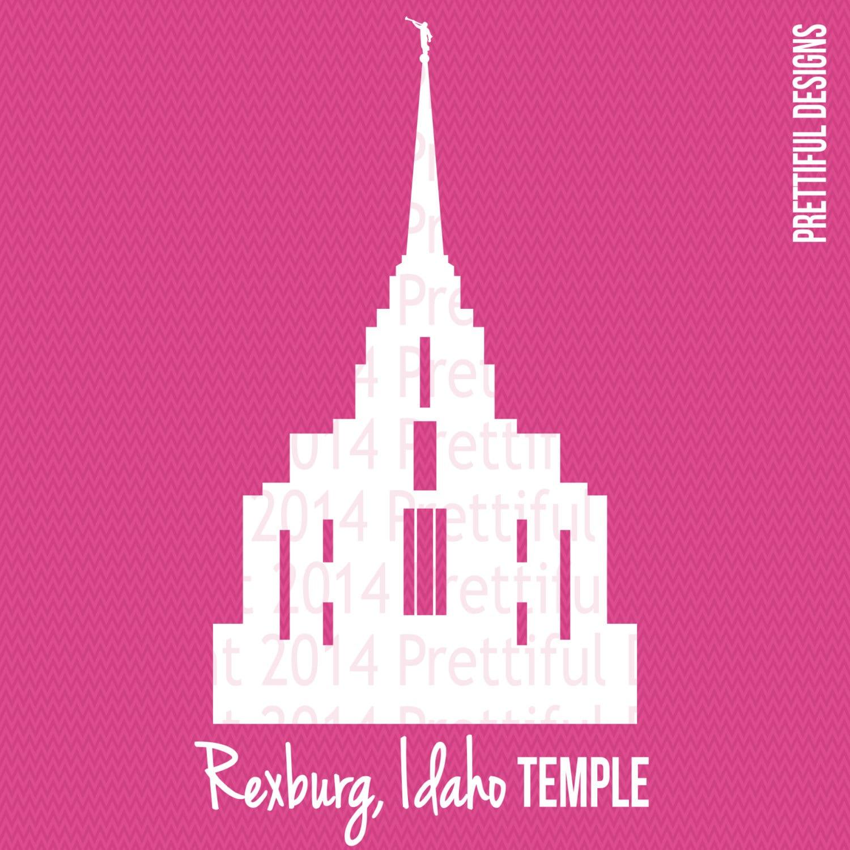Rexburg Idaho Temple Silhouette LDS Mormon Clip Art png eps