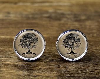 Life Tree cufflinks, Tree cufflinks, Life Tree jewelry