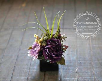 Dark purple small contemporary style arrangement