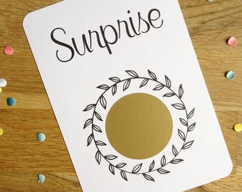 Scratch card customizable - happy events