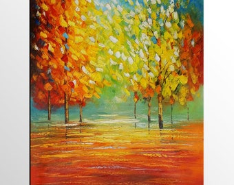 Oil Painting, Original Painting, Abstract Painting, Abstract Art, Canvas Art, Large Wall Art, Canvas Painting, Autumn Landscape Painting