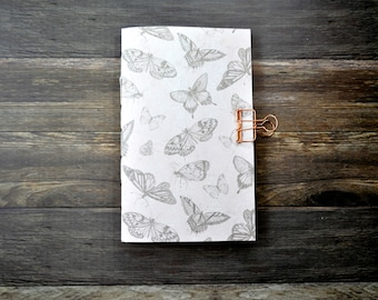 Travelers Notebook Insert with Butterfly's - Midori Insert - TN Insert - Planning Insert  - Art Insert - Bullet Journal - Scrapbooking