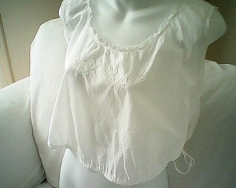 40s FEMININE CAMISOLE CORSET Cover Nursing Bodice Embroidered Cotton Lace Maternity