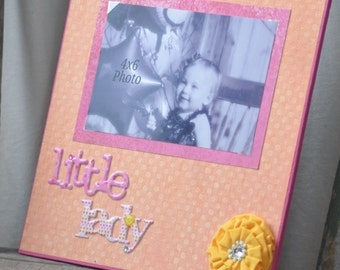 Orange Little Lady with Yellow Flower 4x6 Picture Frame
