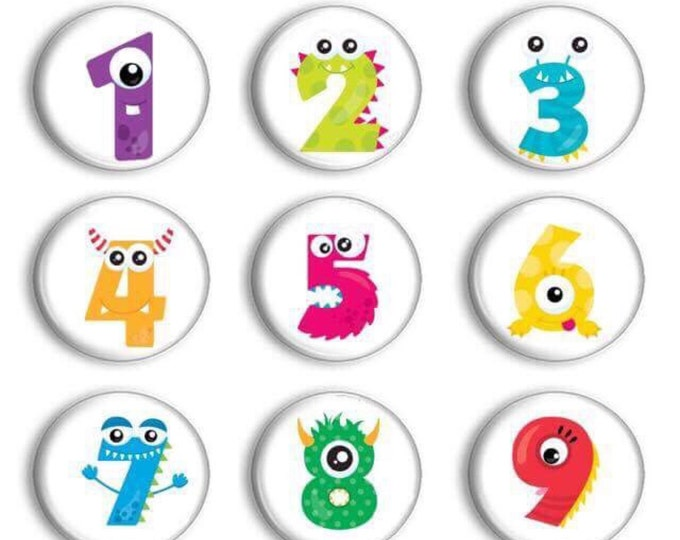 Sale Number Practice - Preschool Learning - Party Favors - Number Magnets - Counting Practice - Preschool Teacher - Student Numbers - Gift