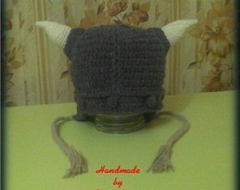 Hat for baby Viking Kit for newborn baby Hat  Booties Crochet hat Viking  Hat for the boy