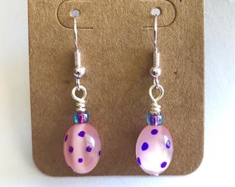 Hand Painted Easter Egg Earrings
