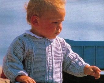 PDF Crochet Knitting Pattern Ages 1, 2,3 Years