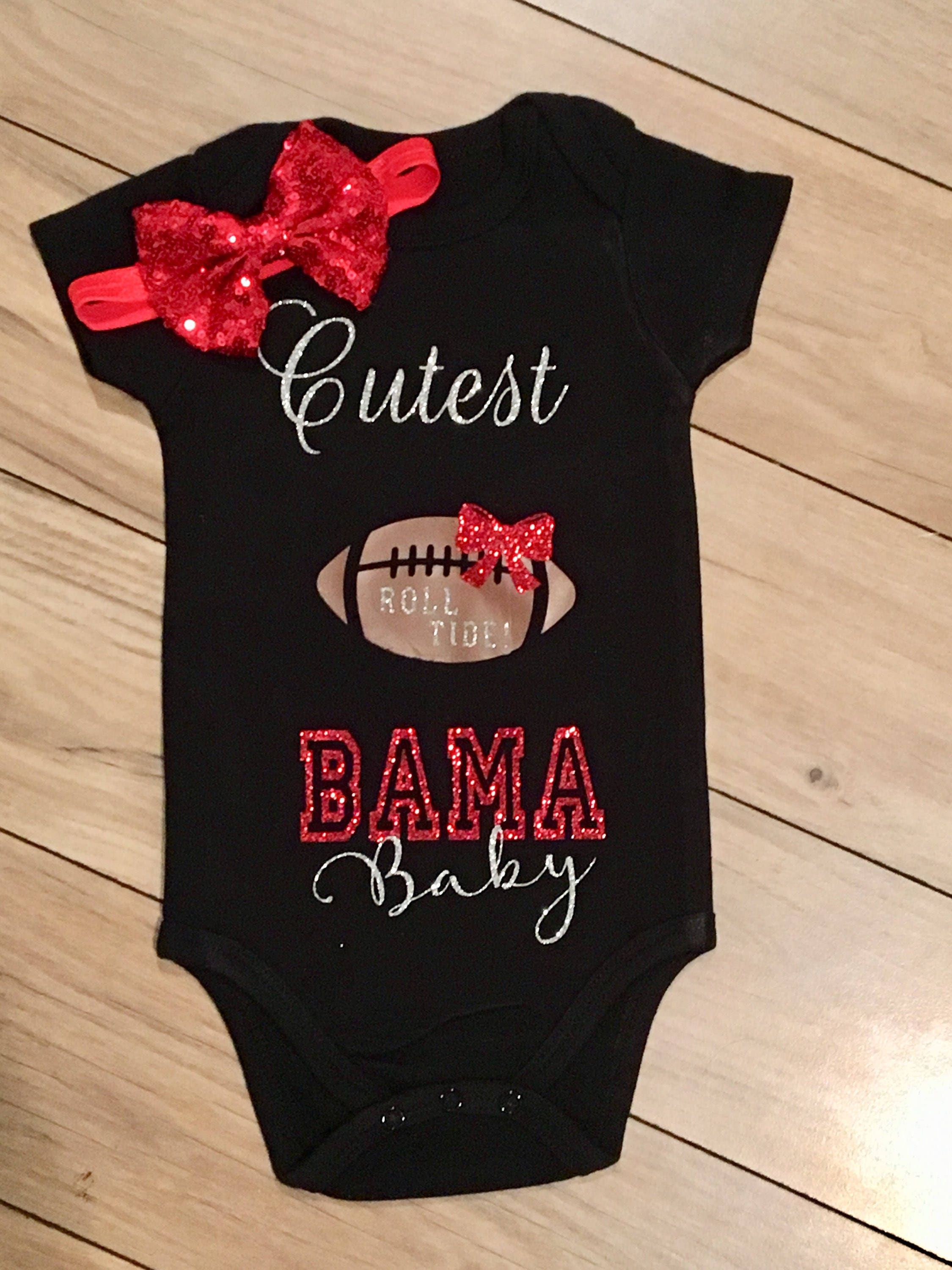 Custom NCAA College Roll Tide esie Bama Baby Clothes Alabama