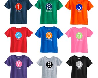 Number Shirt | Personalized Birthday Number Shirt | Birthday Party Shirt | Birthday Shirt | Boys Birthday Shirt | Girls Birthday Shirt