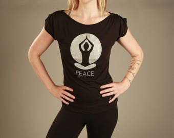 Peace Girl Gathered Shoulder Tee