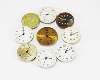 vintage watchs jewelry making altered art industrial crafting antique clock steampunk supply watch gears watch clock repair tools part watch