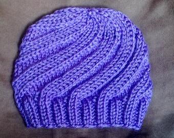 Lavender Swirl Baby Hat