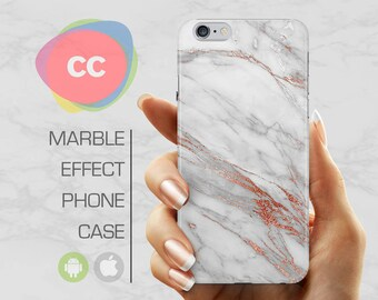 White Gold Marble - iPhone 8 Case - iPhone 7 Case - iPhone X, iPhone 8 Plus, 7, 6, 6S, 5S, SE Cases - Samsung S8, S7, S6 Cases - PC-361