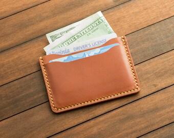 Chestnut Handmade Leather Cards/Cash Holder