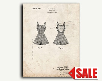 Patent Print - Bathing Suit Patent Wall Art Poster