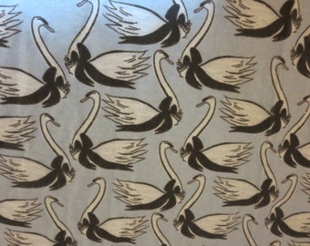 Swans Wearing Pearls-Baby/ Toddler Crib Sheet- Fitted Crib Sheet-Sheets- Bedding-Nursery-