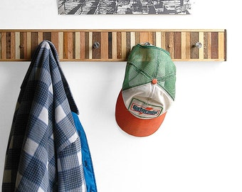 Coat Rack Reclaimed Wood, Entryway Organizer, Wooden Wall Coat Hook