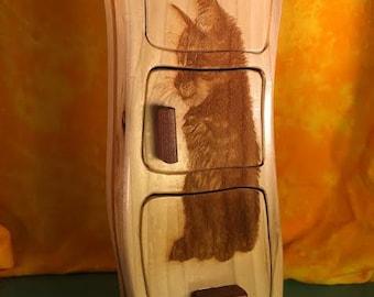 Kitten Engraved Bandsaw Box
