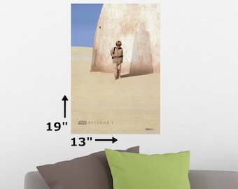"19"" x 13"" Star Wars Episode 1 The Phantom Menace Cinema Theater Movie Promotion Poster Print"