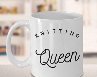Knitting Mug - Gift for Knitter - Knitting Queen Mug