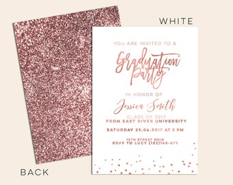 Boy graduation invitation template rustic senior graduation rose gold graduation invitation rose gold grad announcement rose gold senior graduation announcement modern rose gold invitation filmwisefo