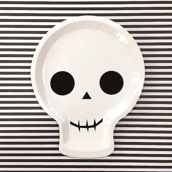 Halloween Plates Meri Meri Skull Paper Plates (12) Halloween Party Plates Kids Halloween Skull Decor Halloween Decorations from CrankyCakesShop on Etsy ...  sc 1 st  Etsy Studio & Halloween Plates Meri Meri Skull Paper Plates (12) Halloween Party ...