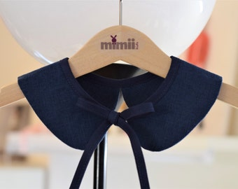Detachable peter pan collar Peter Pan collar Baby Toddler Girls Peter Pan collar Navy blue Family photo Gift for girls