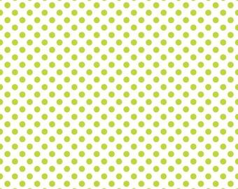 Riley Blake Small Dots Lime (C480-32)