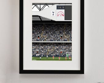 Tottenham Hotspur FC, White Hart Lane Illustrated Print, Spurs FC gifts, Football Art, Gift for Men, Football Gifts, Football Posters, THFC