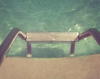 Vintage Swimming Pool Art Print  - Retro Summer Aqua Water Fun Sun Vacation Home Decor Wall Art Photography