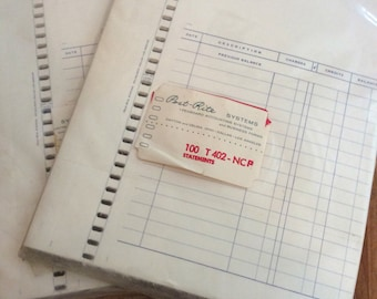 Vintage Post Rite Accounting/Bookkeeping Sheets