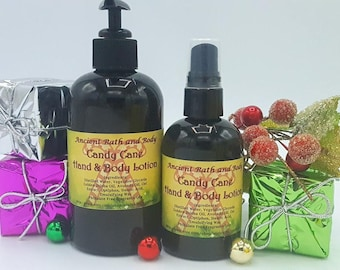 Candy Cane Lotion, Peppermint Lotion, Chrismtas Lotion, Christmas Gift, Holiday Gift, Bath Set, Shower Gift