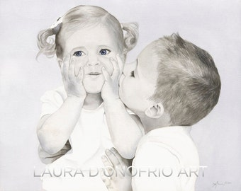 Brotherly Love Watercolor Giclee Print