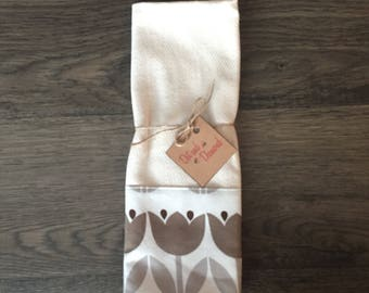 Neutral Tulips Dish Towel