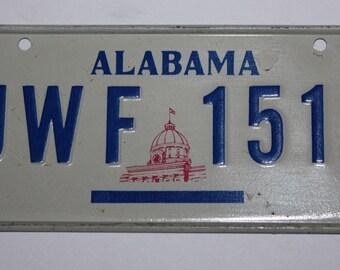 1970's Alabama Heart of Dixie Wheaties Post Cereal Premium Bike Mini Metal License Plate