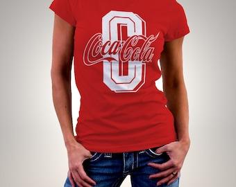 Coca Cola Vintage Collage Logo Woman Printed T-shirt