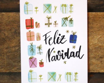 Christmas card-Feliz Navidad-