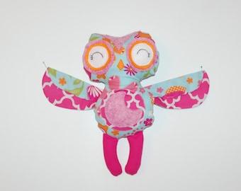 Plush Owl Doll, Owl Plushie, Handmade Owl Softie, Owe Softie