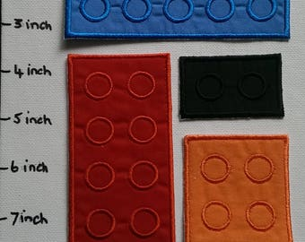 NEW SIZE...Lego Iron on DYI patch, block iron on patch, iron on, patch, applique