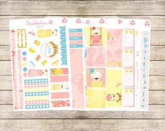 Beary Cute | Planner Stickers | Weekly Planner Sticker Set | Spring Planner Sticker Set
