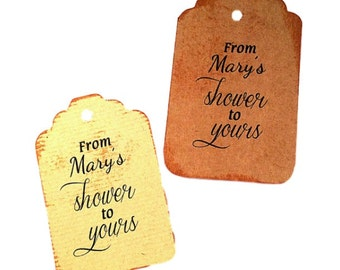 Bridal Shower tags, personalized, custom wedding, set of 50, gift tags, Baby Shower tag, wedding favor
